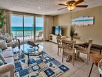 5th floor unobstructed ocean views with the right mix of sand/ocean/sky.