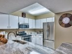 Fully stocked kitchen w stainless steel LG appliances for your cooking pleasure