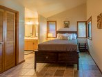 The master retreat includes a private bath and a brand-new memory foam bed.