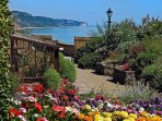 The wonderful Connaught Gardens overlooking the sea at Sidmouth.