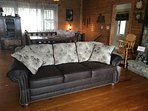 Another very nice sofa upstairs- 2 altogether!