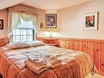 Get comfortable in this queen bed.