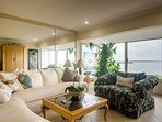 Large Comfortable Living Room with Views of the Lagoon and incredible sunsets
