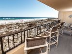 Balcony can be accessed from the living AND master bedrooms, is