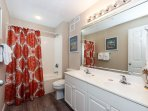 Master Bathroom has double sinks for comfort during prep time an