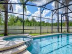 Private Pool/Spa with no neighbors behind or to the side. Extended Sunning deck.