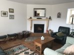 Snug sitting room with turf fire stove