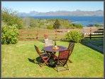 Relax in Loch Hourn cottage garden.