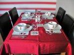Loch Nevis kitchen/diner.