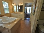 Master Suite %351 bathroom. Please do not use the tub during drought. Responsibly conserve water. Marina Beach...