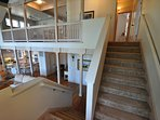 Stairway to 3rd floor. Marina Beach Lakefront Chateau. Luxury Lakefront Vacation Rental 50yds to the Marina Beach.