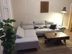 Large Bright Living Room With Comfy Sofa Bed. Also Cable TV.