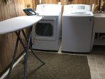 Fully-equipped laundry room in basement for your convenience.