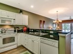 The open-concept layout adds to the home's spaciousness.