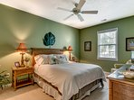 Curl up in the second bedroom's queen bed for a peaceful night of sleep.