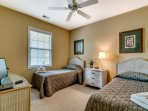 Kids will love sharing the last bedroom's 2 twin beds.