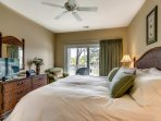 You'll have direct access to the balcony from this luxurious room.