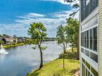 Step onto the spacious, screened-inbalcony and bask in these marvelous views.