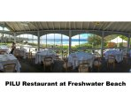 BEACHFRONT DINING PILU RESTAURANT