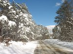 We strongly advise using a 4-wheel drive car during the winter time