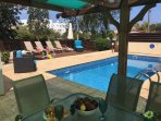 Plenty of sun on the pool in Sun-n-Sea Villa 7
