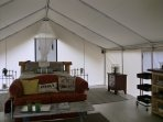 Luxury Tent, trails, pond, river, lake (Canoes, Kayaks, Paddle boards Included)