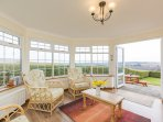 bring the outside inside in the sunroom