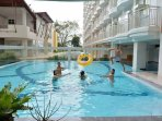 Swimming pool and shaded seating available 6am to 10pm except Mondays (cleaning)