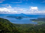 Lake Taal view from ROOF VIEW DECK, view not from condo balcony. Take elevator to roof deck.