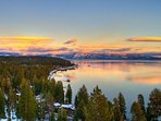Gorgeous views of Lake Tahoe in the neighborhood