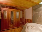 Spa room - includes jetted spa tub and 6 person sauna
