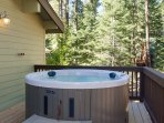 Hot Tub is perfect after a long day on the slopes or waterskiing!