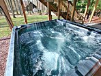 Hot tub off game room