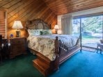 Master Bedroom #1- King Bed & En-suite Full Bathroom - Downstairs