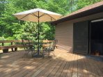 Enjoy your day on your patio surrounded by woods and completely private:)
