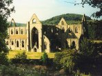 The ruins of Tintern Abbey in the Wye Valley