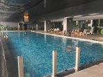 Indoor heated pool with Stunning view
