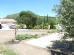 Boules pitch and large driveway