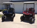 2 Raised Golf Carts to take you to the beach and back!  Cruise through our golf cart community