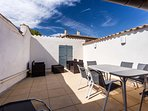 This is the lovely roof terrace, flooded with sunshine accessible from the kitchen diner