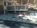 small but cozy. One mile to town. large deck with table and chairs.
