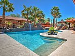 With a large backyard featuring a private pool and other spectacular outdoor amenities, this vacation rental home...