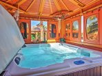 Spend your evenings in the soothing hot tub.
