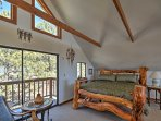 Enjoy a peaceful sleep in this log post queen-sized bed.