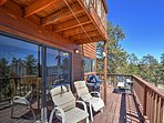 Relax on the spacious deck and enjoy watching the sun set over the mountains or stargazing with unobstructed views.