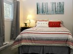 Bedroom 2 Queen bed; room 110 sq feet.  Cozy and comfortable. Located off common area.