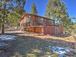 Retreat to 'Evergreen Cottage' a secluded 2-bedroom, 1-bathroom vacation rental cabin that sleeps 6 in Divide, Colorado.