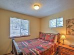 The master bedroom has a comfortable queen-sized bed that will ensure many peaceful slumbers.