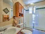 The cabin features 1 bathroom for guests to use.