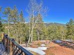 Enjoy views of Sentinel Peak and the back of Pikes Peak.